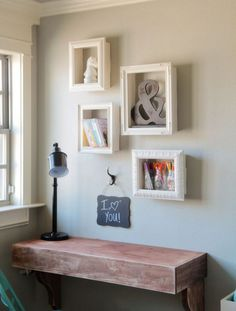 DIY shelf out of an old photo frame ! Really easy :)