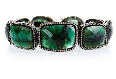 One Kings Lane   Emerald & Diamond Links Bracelet from Amrapali Jewelry   9,180.00