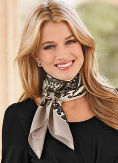 Tied neck scarf Add Sinchi™ - Be Chic... www.SinchiScarfClip.com