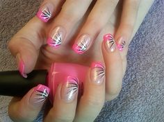 pink summer burst by aliciarock - Nail Art Gallery nailartgallery.nailsmag.com by Nails Magazine www.nailsmag.com #nailart