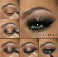 Step by step to a perfect glam smokey eye