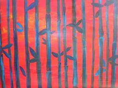 """""""gabbia"""" acrilico su tela 2010"""