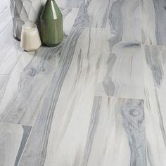 Grey Wood Tile, Wood Look Tile Floor, Wood Tile Floors, Grey Tiles, Gray Hardwood Floors, Light Grey Wood Floors, Porcelain Wood Tile, Polished Porcelain Tiles, Grey Bathroom Tiles