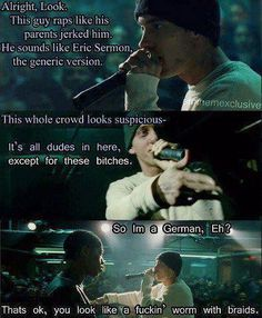 greatest movie ever. #SoMuchRespect Eminem. <3
