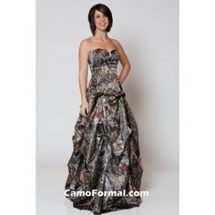 This Camo Formal Can Be Worn As An Informal Wedding Gown, Prom Or Any Other Special Occasion. Lots Of Accessories Are Available In Mossy Oak New Breakup Camouflage. AKA My Prom Dress! Camouflage Prom Dress, Camo Wedding Dresses, Camouflage Wedding, Straps Prom Dresses, Camo Dress, Grad Dresses, Cute Dresses, Strapless Dress Formal, Wedding Gowns
