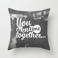 Knit Me Together Throw Pillow by Pocket Fuel - $20.00