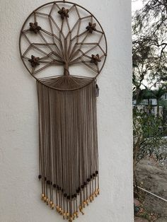 Items similar to Macrame Tree Wall Hanging on Etsy Macrame Wall Hanging Diy, Macrame Art, Macrame Projects, Macrame Knots, Dream Catcher Craft, Macrame Design, Macrame Tutorial, Macrame Patterns, Diy Wall