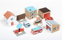 Juguetes de cartón reciclado, ciudades de cartón de Papierowe Miasto > Minimoda.es