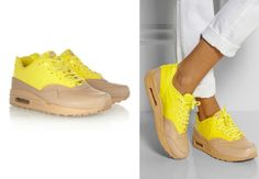 Beige- yellow Nike model is available in two variants, we have seen haytopy, but there is a more traditional version.
