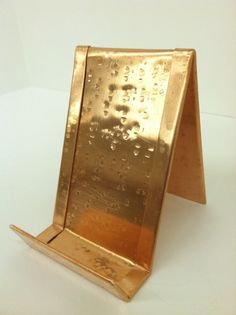 Vertical Raw Square Hammered Copper Business by YanceyLighting, $10.00