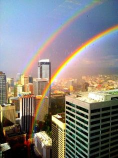 Photos: Stunning double rainbow makes appearance over Seattle | Seattle's Big Blog - seattlepi.com