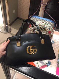 b020ead468bc Gucci Apli Large Top Handle Bag 550130 Black www.salepretty.com #gucci apli