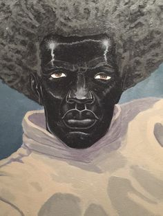 """Untitled (Painter)"" (Detail) by Kerry James Marshall. At the Met Breuer"
