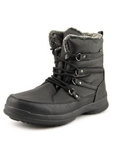 Weatherproof Tara Women US 6 Black Winter Boot