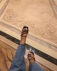 he Ashton Mule on Queen Victoria. Shop via the link in our bio Cute Shoes, Me Too Shoes, Trendy Shoes, Summer Shoes, Summer Outfits, Chic Outfits, High Heels, Shoes Heels, Black Heels