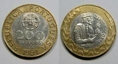200 Escudos 1991 Garcia de Orta (Bimetal) Portugal
