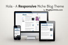 Hola - Responsive Blogger Template.