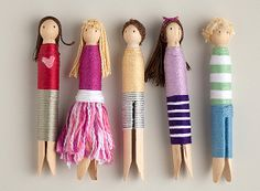 DIY Clothespin Wrap Dolls