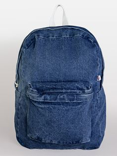 literally just ordered this in the light wash like ten mins ago whatta coinkydink  #AmericanApparel.  #denim #backpack