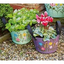Mini Recycled Tyre Planters
