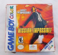 Check out this item in my Etsy shop https://www.etsy.com/listing/482856599/vintage-mission-impossible-for-gameboy