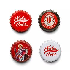 'Fallout 4' Nuka Cola Bottle Cap Fridge Magnets
