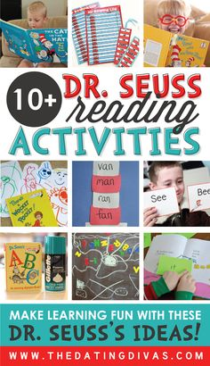 Make reading FUN with these AWESOME Dr. Seuss activity ideas!