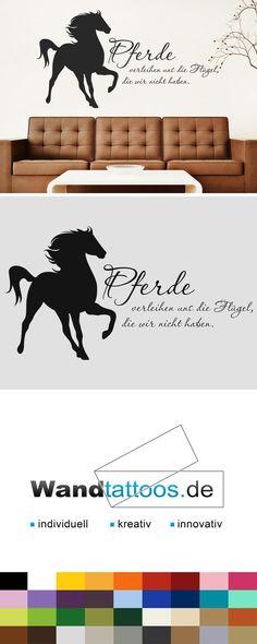 Simple Wandtattoo Pferde verleihen uns die Fl gel