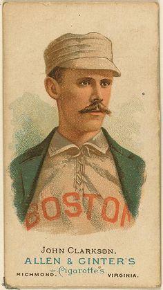 1887 Allen & Ginter's Worlds Champions 4 John Clarkson Boston Beaneaters baseball card