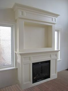 fireplace mantel used high on wall | Wall Mount Electric Fireplaces Built-In Electric Fireplaces ...