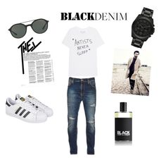 """""""Untitled #17"""" by hasanovicm ❤ liked on Polyvore featuring Nudie Jeans Co., adidas, Michael Kors, Giorgio Armani, Comme des Garçons, men's fashion and menswear"""