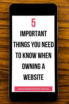 If you have a website, here are 5 important things you need to know to ensure this doesn't happen to you.