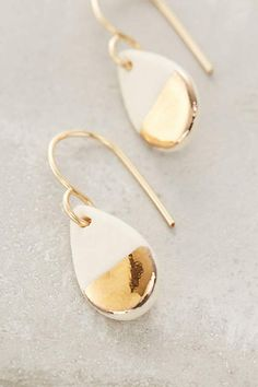 Gilded Teardrop Earrings - anthropologie.com