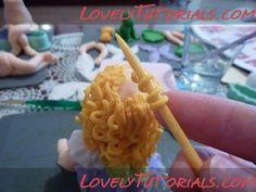 МК как слепить волосы/парик для куклы -How to Make a Doll Wig / Doll Hair - Page 2 - Мастер-классы по украшению тортов Cake Decorating Tutorials (How To's) Tortas Paso a Paso