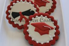 1 Doz Graduation Caps Decorated Cookies  Party by LovinOvenCookies