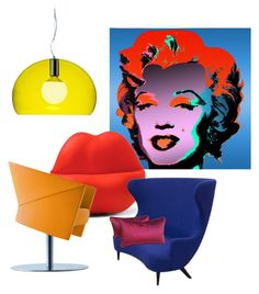 pop by albaperezvte on Polyvore featuring polyvore interior interiors interior design home home decor interior decorating Tom Dixon Heller Kartell Andy Warhol