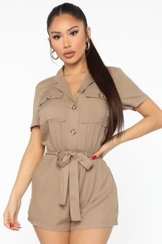 Casual Chic Outfits, Rompers Women, Jumpsuits For Women, Romper Outfit, Sweater Shop, Women Lingerie, Taupe, Sweaters For Women, Clothes