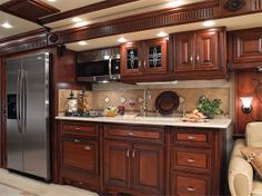 Rv Kitchen. Small Kitchen I Like.the Color Combo Of Cabinets Countertops.and