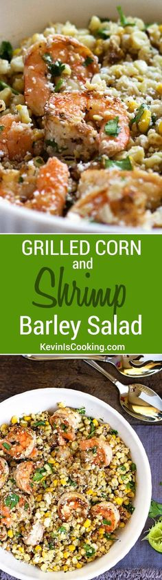 This Shrimp Corn and Barley Salad is a perfect meal that incorporates fresh roasted corn on the cob, nutty barley, salty feta cheese and some freshly grilled shrimp all coated in a lime vinaigrette with toasted walnuts. Hearty yes, and so good!
