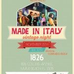 Made in Italy Miami Vintage Night at 1826 Restaurant and Lounge: http://www.soflanights.com/?p=121398