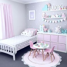 A Pink And Lavender Room For A Little Girl It's time to introduce what's going to be the cutest room of our White & Light Home. Here are all the plans of our pink and lavender room for a little girl. - A Pink And Lavender Room For a Little Girl - Part 1