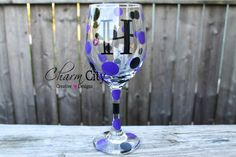 Personalized Wine Glass 20 oz Fancy Font on Etsy, $10.00