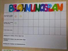 Belohnungsplan für Schulkinder