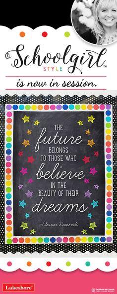 Schoolgirl Style - Stars and the Future Belongs Motivational Chart