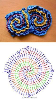 spiral pattern 4colors by am_tm_mitsuko, via Flickr