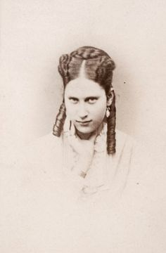 Newlywed Crown Princess Lovisa of Denmark, neé Princess of Sweden. 1869