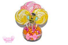 Small Pink and Yellow Bumble... from EdibleWeddings on Wanelo