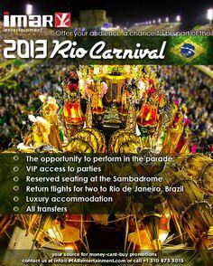 Op de praalwagen van het Carnaval in RIO