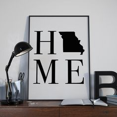 Missouri State Home Digital Print State Art by SassMouthPrints A digital typography print of your home state, Missouri. Missouri State Home Digital Print | State Art | MO | Housewarming Gift | Minimalist Wall Art | Printable Art | Typography | Home Print