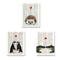 The Alligators reminded me of my husband pretty neat  Heart 3 Pack, $17, now featured on Fab.
